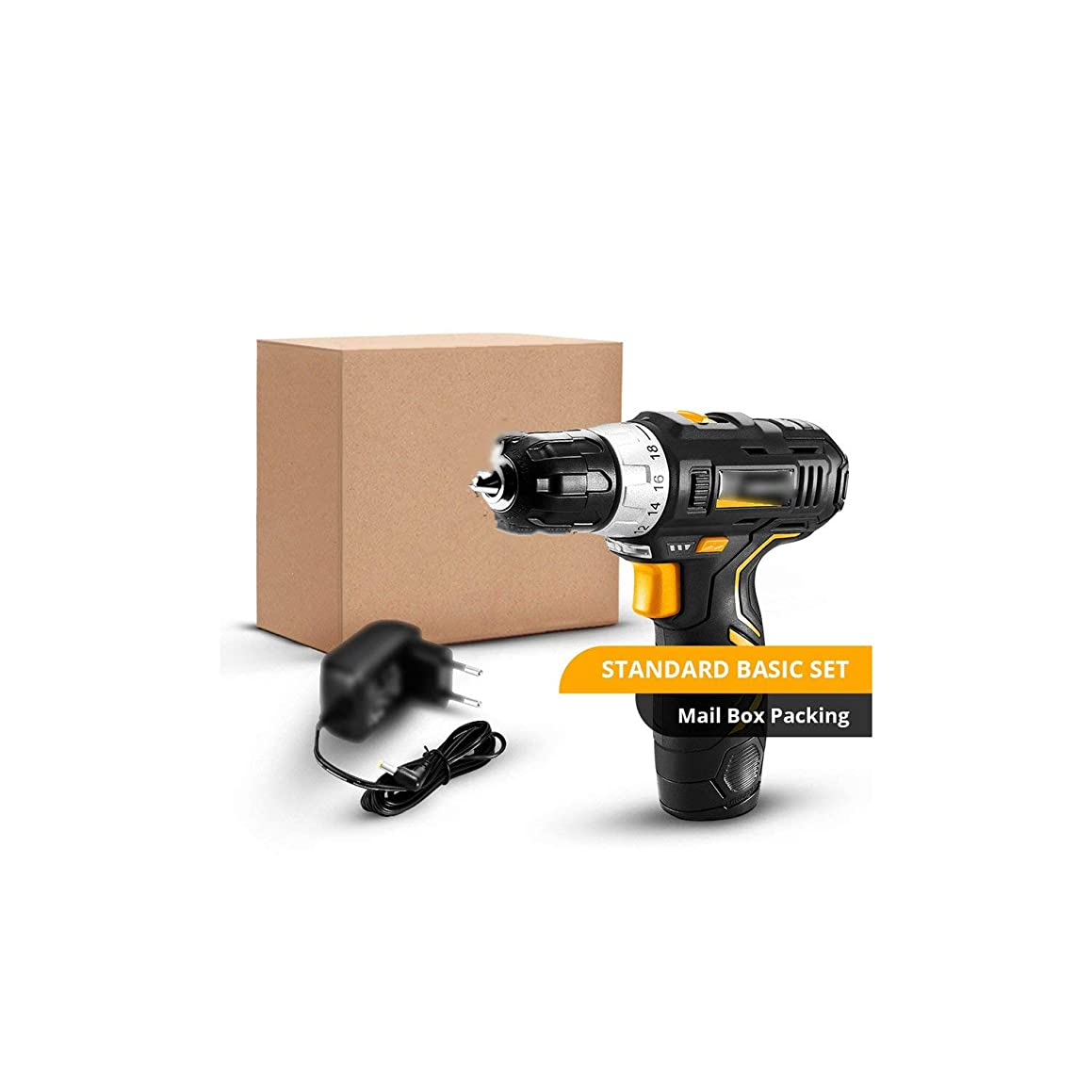 Drill Max Electric Screwdriver Cordless Drill Mini Wireless Power Driver Dc Lithium-Ion Battery 3/8-Inch 2-Speed,Czech Republic,Set1