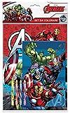 Set da colorare Avengers Contiene 2 album da colorare Contiene 4 pastelli