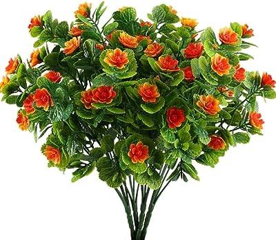 Kdrirad Flores de Plásticos 4pcs Flores de Simulación Decoración Jardín Fresa Artificial Orquídea para Balcones Hogar Cocina Oficina: Amazon.es: Hogar