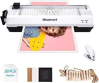 comprar comparacion Blusmart - Juego de plastificadores (5 en 1, tamaño A4), color negro, color blanco