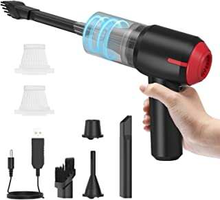 Handheld Vacuum Cleaner Cordless, Rechargeable with 5000mAh Battery, 2-3Hrs Fast Charging, 40Mins Use with Two HEPA Filte...