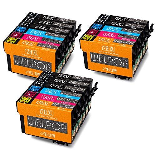 WELPOP T1285 XL Compatibile Cartucce Epson T1281 T1282 T1283 T1284 per Epson SX235W SX425W SX430W SX435W SX125 SX230 SX130 SX420W SX440W SX445W BX305F BX305FW Plus (8 Nero,3 Ciano,3 Magenta,3 Giallo)