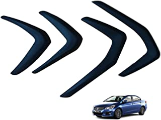 Hi Art Car Custom Fit Bumper Scratch Protectors Compatible with Maruti Suzuki Ciaz (2014-2018), Set of 4