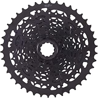 microSHIFT Advent H09 Cassette - 9 Speed, 11-42T, Alloy Large Cog, Black