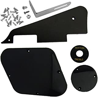 IKN 1set Black Pickguard/Cavity/Switch Covers/Pickup Selector Plate/Bracket/Screws Fit Les Paul Guitar Style