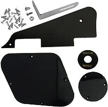 IKN 1set Black Pickguard/Cavity/Switch Covers/Pickup Selector Plate/Bracket/Screws for LP Guitar Style
