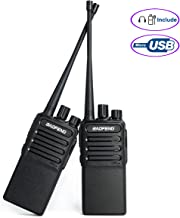 Walkie Talkies Voice Scrambler Rechargable Radio Uhf 400-480Mhz Two Way Radio for Hiking Camping CS Compatible with BAOFENG Bf-888s with 2 Air Acoustic Tube Headset Earpieces by LUITON