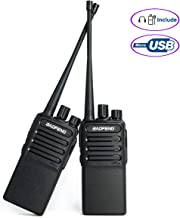 Walkie Talkies Rechargable Radio (Micro USB) Uhf 400-480Mhz Two Way Radio for Hiking Camping Compatible with BAOFENG Bf-888s with 2 Air Acoustic Tube Headset Earpieces by LUITON