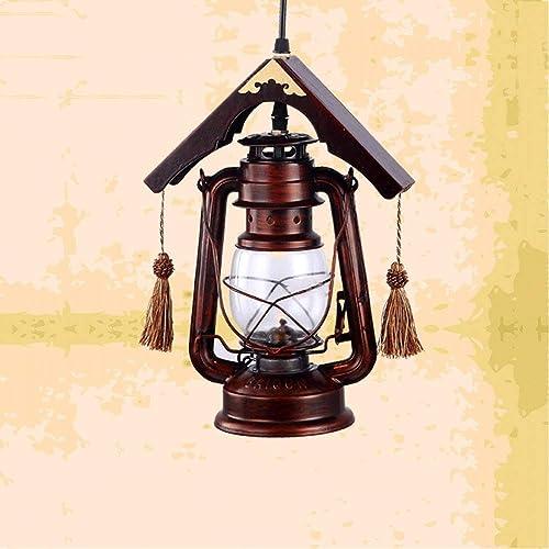 Plafonnier pendentif Asie Du Sud-Est Plafond Lanterne Vintage Antique Lustre Lampe Au Kérosène Décoration Restaurant Bar Café Thème Place Droplumière E27