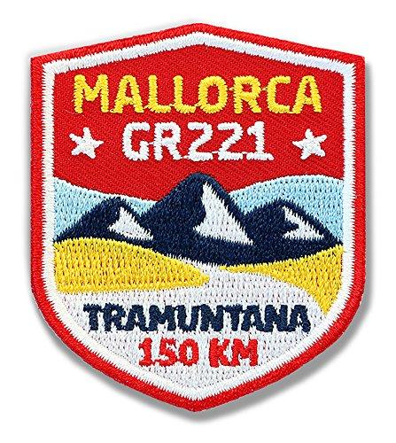 Club of Heroes 2 x Mallorca GR221 Abzeichen 51 x 60 mm gestickt/Serra de Tramuntana Fern-Wanderweg GR-221 Wanderabzeichen Wappen Aufnäher Aufbügler Sticker Patch/Wandern Wanderführer Reiseführer