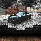 IIIUHU Bilder Abstrakt 5 Teilig Wandbild XXL Audi RS7