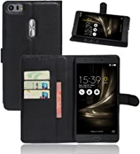 ASUS ZenFone 3 Ultra ZU680KL Case, [LuckQR] Leather Wallet Case, Folding Kickstand, Folio Design with Card & Cash Slot, Magnetic Clasp Closure Protective Cover For ASUS ZenFone 3 Ultra ZU680KL - Black