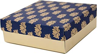 Desi Favors High Quality Sturdy Gift Boxes for Christmas,Perfect Cardboard Gift Packaging Boxes for Cookies Cupcakes Wedding Favors or Any Small Gifts Mithai Boxes(Red,Blue,Hotpink and Green)