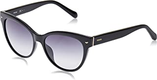 Fossil Women's Fos 2058/s Round Sunglasses, Black, 54 mm