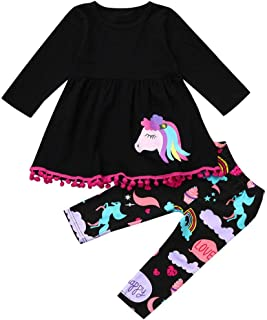 K-youth Ropa Bebe Niña Otoño Invierno Infantil Recien Nacido Vestidos Bebé Niña Vestido Niña Unicornio Impresión Manga Lar...
