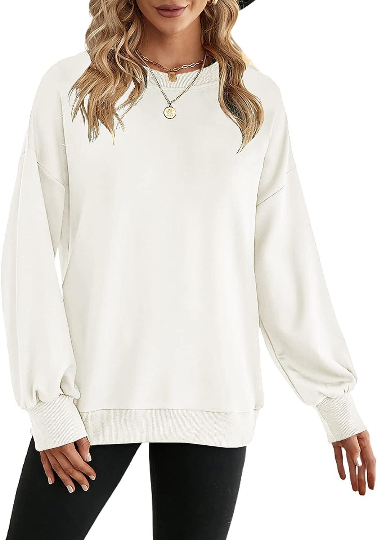 SHEWIN Womens Crewneck Sweatshirts Oversized Long Sleeve Shirts Pullover Tops