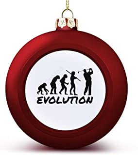 Christmas Ball Ornaments Golf Evolution Hanging Ball Decorative for Christmas Trees,Holiday Party