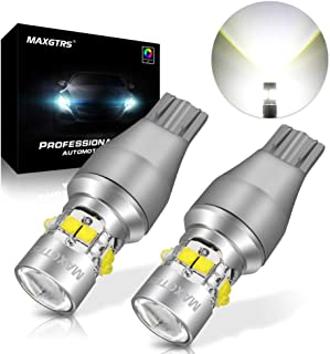MAXGTRS 921 912 Cree Chip LED Light with Condenser Lens W16W T15 6000K Xenon White for Reverse Light Brake Light Tail Light