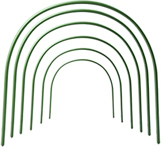 F.O.T 6Pcs Greenhouse Hoops Rust-Free Grow Tunnel Tunnel, 4ft Long Steel with Plastic Coated Plant Supports for Garden Fabric, Plant Support Garden Stakes