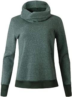 Women's Funnel Neck Long Sleeve Lightweight Fleece Lined Winter Pullover Sweatshirt