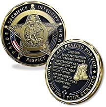 BHealthLife US Police Department Challenge Coin Saint Michael Protect Law Enforcement Policeman's Prayer