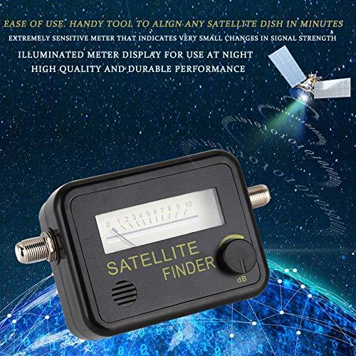 Yctze Buscador de satélites 9501 Satélite Amarillo con Funda de Silicona No es Necesario recalibrar