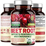 N1N Premium Organic Beet Root Capsules 1300mg, 120 Veg Caps [Non-GMO & Gluten Free] All Natural Beet Root Powder - Helps Lower Blood Pressure, Boosts Athletic Performance and Heart Health.