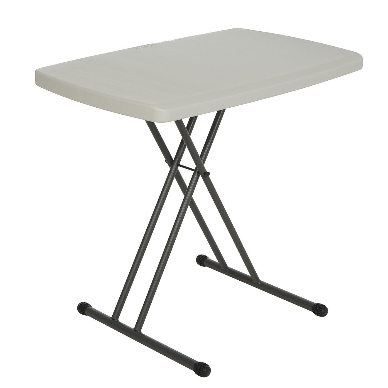 Lifetime 28240 Adjustable Folding Laptop Table TV Tray, 30 Inch, Almond