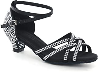 DSOL Women's Latin Dance Shoes DC1621T-2 Heel 2.2