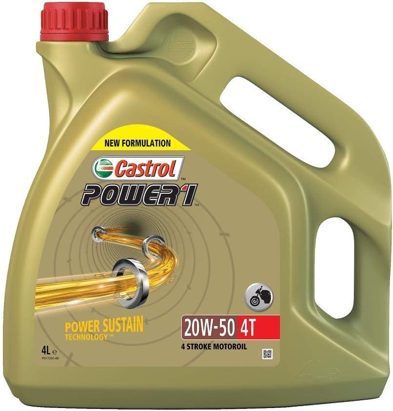 Castrol 15049b Power 4t 1 4t 20w 50 4 Takt Motorrad Motorenöl 4l Auto