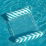 TIAS Hamaca de agua flotante para piscina, cama de aire inflable para adultos, silla de salón deportivo con bomba de aire