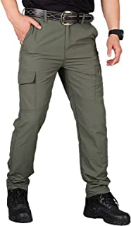 Men's Casual Relaxed Fit Cargo Pants Lightweight Thin Section Hiking Work Outdoor Trousers