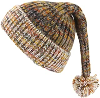 Hat Casual Knit hat Korean Version of Autumn and Winter Wool hat Distaff Hair Ball Parent-Child Christmas hat ardentt (Color : Brown, Size : Child)