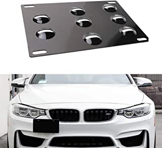 Fudoray Front Bumper Tow Hook License Plate Mount Mounting Relocator Bracket Holder Bolt for BMW E70 E71 E82 E88 E90 E91 E92 E93 128i 135i 325i 328i 330i 335i M3 X5 X6 1M Mini Cooper R Series