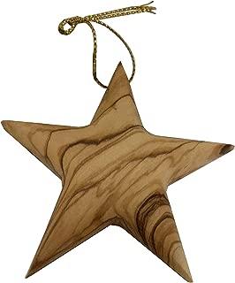 Bethlehem Gifts TM Bethlehem Olive Wood Complete Christmas Ornaments Set. Nativity Story (Star Ornament)