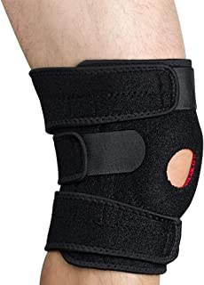 FONESO Knee Brace Support, Neoprene Open Patella Stabilizer with Adjustable Veclro - Best for Meniscus Tear, Arthritis, AC...