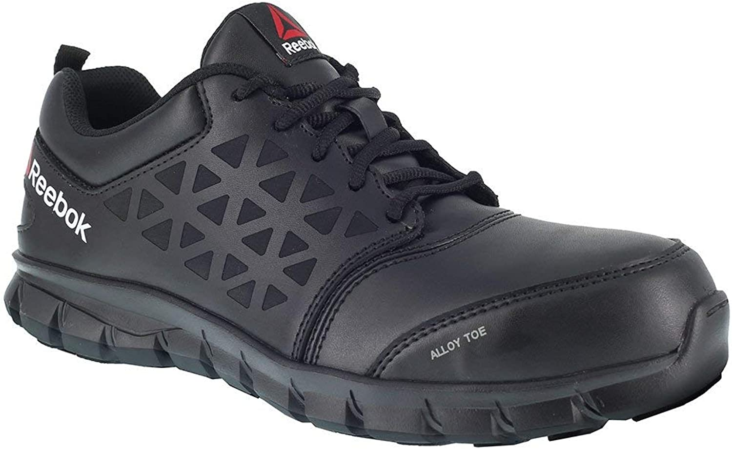 Reebok Work Men's Sublite Cushion Work EH Black Leather 9.5 E US