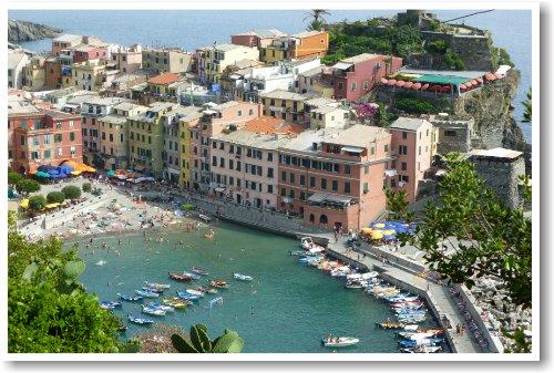 Vernazza Italy - NEW World Travel Cinque Terra Poster