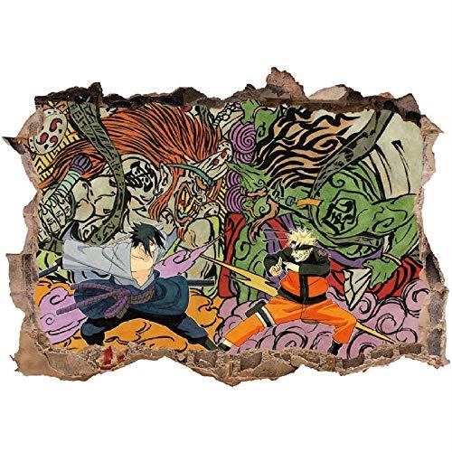 3D Sticker Mural Naruto Decal Cartoon Japonais Naruto Stickers Muraux Autocollant Sticker Décoration Murale Stickers Muraux Décor À La Maison Déco Naruto-60 * 90CM-D_60*90CM