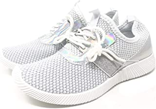 Glaze - Womens Sneakers Metallic Hologram Fashion Belt Running Shoes