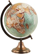 Art Deco Home - Globo Terraqueo 20 centimetros Bola del Mundo Interactivo Mapa Vintage