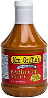 Mrs Griffin's Hickory Smoke BBQ Sauce 32 oz - Tangy Mustard Based BBQ Sauce (Hickory Smoke, 32 oz)