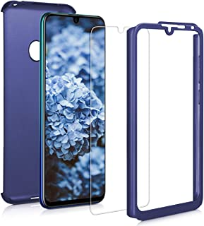 kwmobile fodral kompatibel med Huawei Y7 (2019) / Y7 Prime (2019) – skyddande helkropp fodral med skärmskydd – metalliskt ...