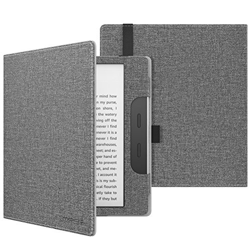 MoKo Case Fits All-New Kindle Oasis (9th and 10th Generation ONLY, 2017 and 2019 Release), Premium Smart Cover Slim Fit Protective Case with Auto Wake/Sleep - GRAY