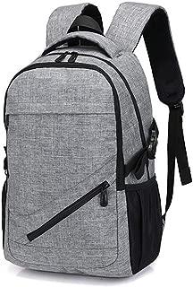 JITALFASH Canvas Travel Backpack for Men Women 15 Inch Laptop Backpack School Bags For Teens Gray onesize