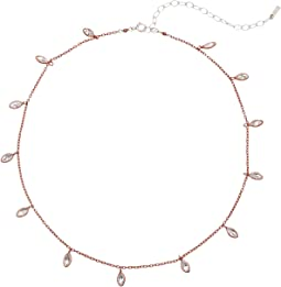 Chan Luu - Sterling Silver Necklace with Dangle Teardrop Details