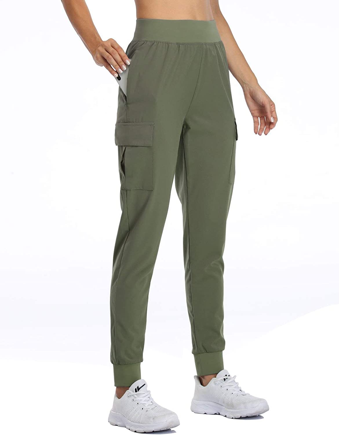 Willit Women's Cargo Columbus Mall Joggers Workout Lightweight Max 58% OFF Athletic Pants