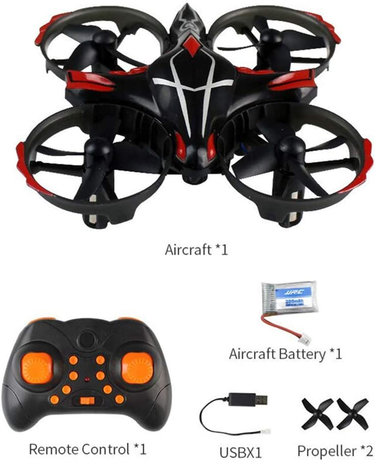 JJJJJJJJ Drone à Quatre Axes Ind Lancer Une Mouche, Télécommande Infrarouge, Mode interactif, Mode sans tête, Avion télécommandé Black