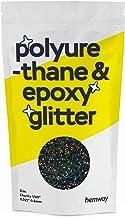 "Hemway   Polyurethaan & Epoxy Glitter - Chunky - 1/40"" 0.6mm - Gun Metaal Holografisch/100g"