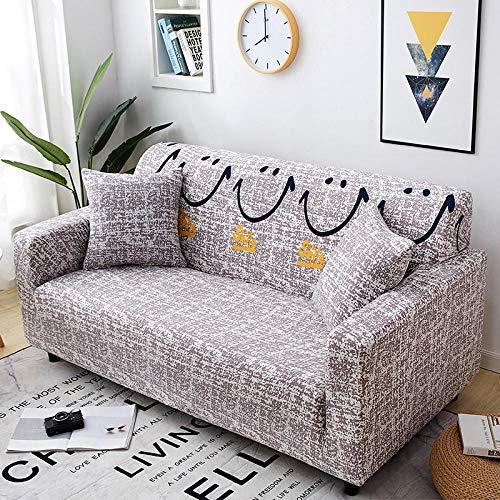 B/H Muebles Elegante Sofa Cubre,Funda de sofá elástica con Todo Incluido, Funda de sofá de Tela-D_235-300cm,Fundas de sofá de Esquina